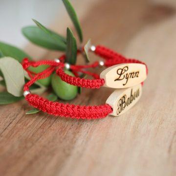 bracelet personnalisable tresses version homme et femme